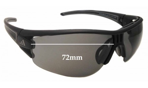 Adidas A167 Evil Eye Halfrim Pro L 6054 & 6083 Replacement Sunglass Lenses - 72mm wide x 46mm Tall *Please measure as there are several models*