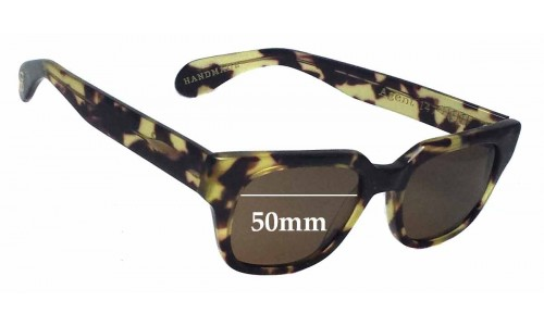 Age Eyewear Agent New Sunglass Lenses - 50mm Wide
