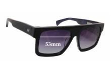 AM Eyewear Shanthani Replacement Sunglass Lenses - 53mm wide x 43mm tall