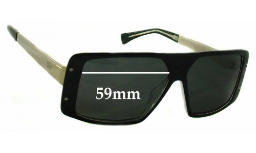 AM Eyewear Rick Replacement Sunglass Lenses - 59mm Wide