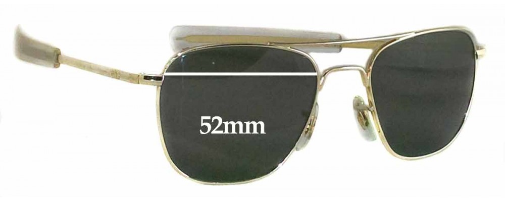 fd1fe1bce7858 Sunglass Fix Replacement Lenses for American Optical Original Pilot - 52mm  wide