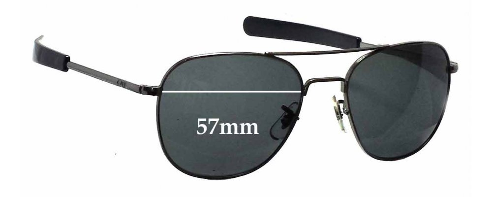American Optical Original Pilot Sunglass Replacement Lenses - 57mm wide 0b3a0ffbd3a