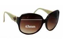 Anna Sui AS813 Replacement Sunglass Lenses - 63mm wide