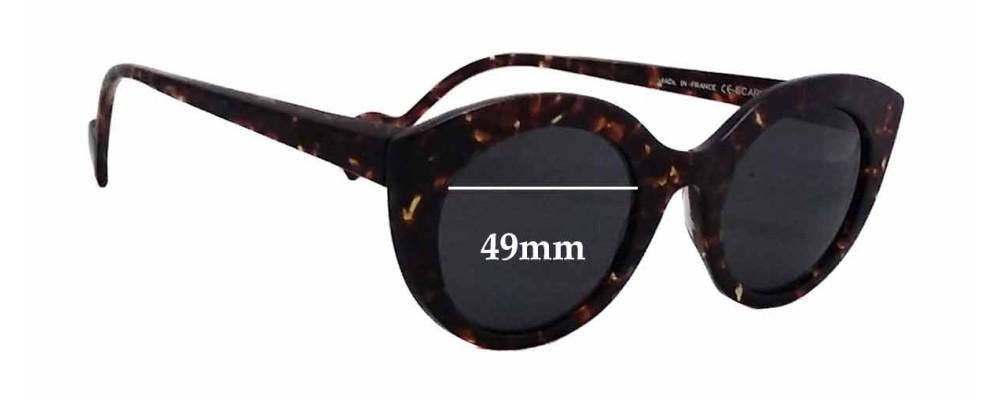 Anne Et Valentin Scarlett New Sunglass Lenses - 49mm wide