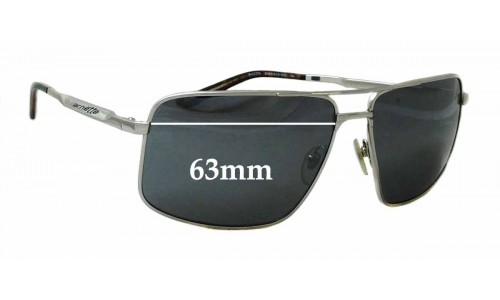Arnette Bacon 3063 Replacement Sunglass Lenses - 63mm wide