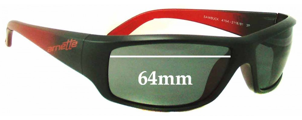 Arnette Sawbuck AN4154 Replacement Sunglass Lenses - 64mm wide