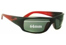 Sunglass Fix New Replacement Lenses for Arnette Sawbuck AN4154 - 64mm Wide