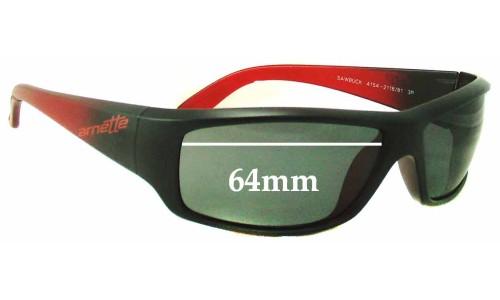 Sunglass Fix Replacement Lenses for Arnette Sawbuck AN4154 - 64mm wide