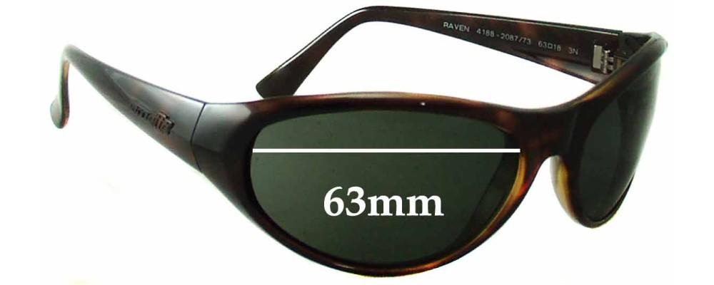 Arnette 4188 Raven Replacement Sunglass Lenses - 63mm wide