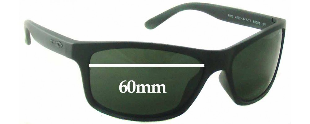 Arnette Pipe AN4192 Replacement Sunglass Lenses - 60mm wide