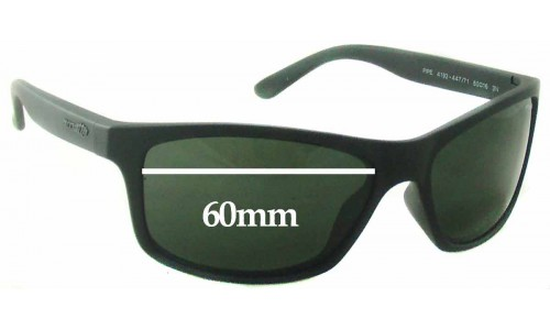 Sunglass Fix Replacement Lenses for Arnette Pipe AN4192 - 60mm wide