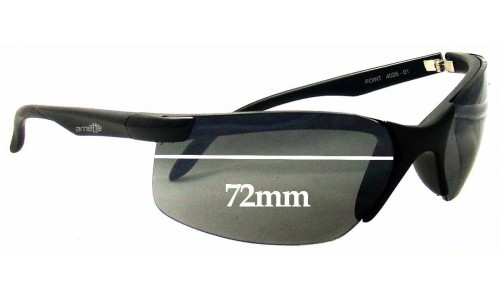 Arnette Point AN4026 Replacement Sunglass Lenses - 72mm wide