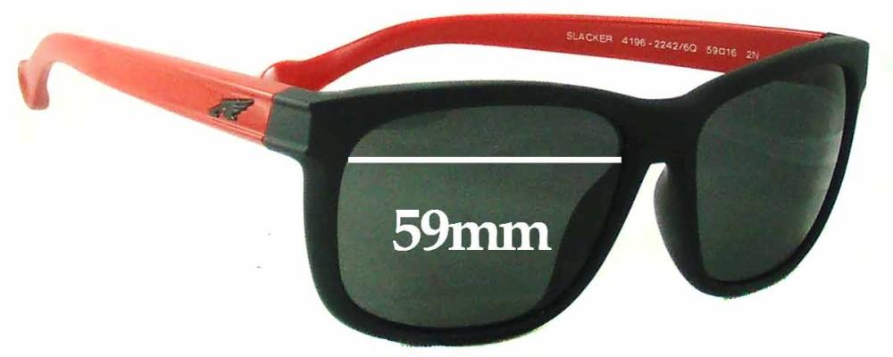 Arnette Slacker AN4196 Replacement Sunglass Lenses - 59mm wide