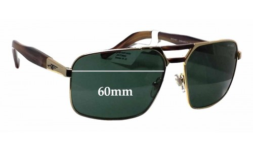 Arnette Smokey AN3068 Replacement Sunglass Lenses - 60mm wide