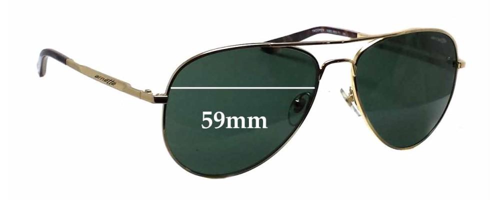 Arnette AN3065 Trooper Replacement Sunglass Lenses - 59mm wide