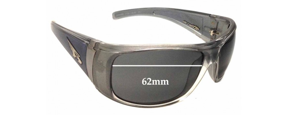 AN4122 Arnette Wanted Replacement Sunglass Lenses - 62mm wide
