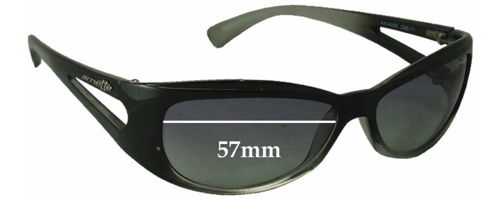Arnette AN4056 Replacement Sunglass Lenses - 57mm Wide