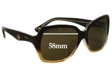 Bally BY2008A Replacement Sunglass Lenses - 58mm wide