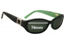 Sunglass Fix Replacement Lenses for Banana Republic Susan/S - 54mm Wide