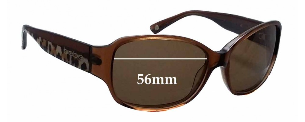 Sunglass Fix Replacement Lenses for Bebe - 56mm Wide x 39mm Tall