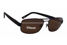 Bill Bass Ayden 25540 Replacement Sunglass Lenses - 59mm wide