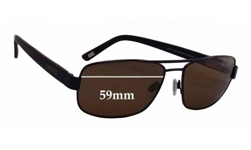 Bill Bass Ayden 25540 Replacement Sunglass Lenses - 59mm wide
