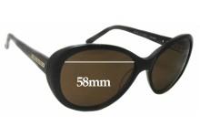 Sunglass Fix Replacement Lenses for Bill Bass Olivia 25376 - 58mm Wide