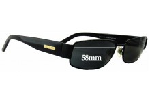 Bill Bass Snowy Replacement Sunglass Lenses - 58mm wide