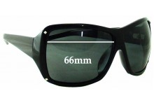 Sunglass Fix New Replacement Lenses for Black Flys Fly Girls On The Fly - 66mm Wide