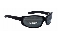 Black Flys Roll The Flys - Lucky Fly Replacement Sunglass Lenses - 63mm wide