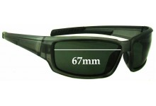 Black Ice PL6036 Replacement Sunglass Lenses - 67mm wide