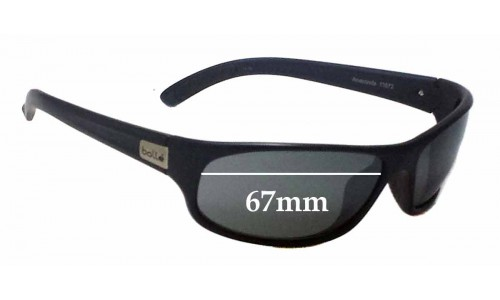 bd3b123093 Bolle Anaconda 11672 Replacement Sunglass Lenses - 67mm Wide