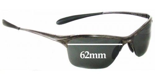 Repairing Bent Glasses Frames : Bolle Hell Bent 10370 Replacement Sunglass Lenses - 62mm wide