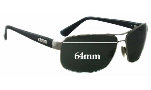 Sunglass Fix Replacement Lenses for  Bolle Lexington - 64mm Wide