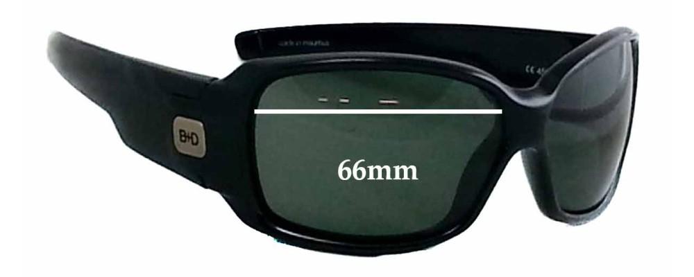 Buch Deichmann B+D 4563 Replacement Sunglass Lenses- 66mm Wide x 41mm tall