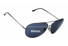 Burberry Aviator Replacement Sunglass Lenses - 60mm Wide