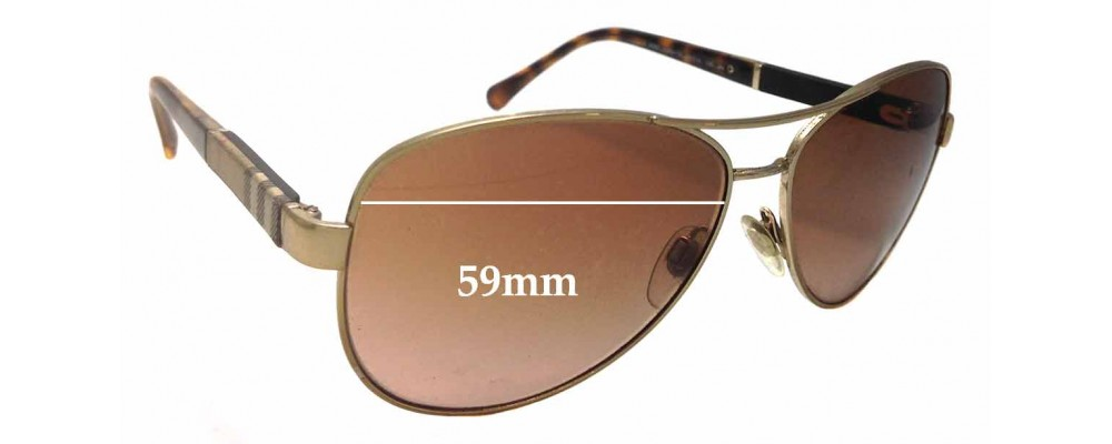 b27be5397bd Burberry B 3080 Replacement Sunglass Lenses - 59mm Wide