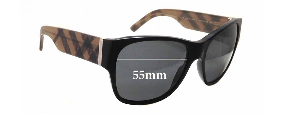 Burberry Glasses Frame Repair : Burberry B 4104 M Replacement Sunglass Lenses - 55mm wide