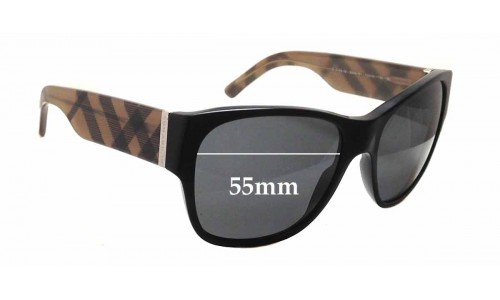Burberry B 4104 M Replacement Sunglass Lenses - 55mm wide