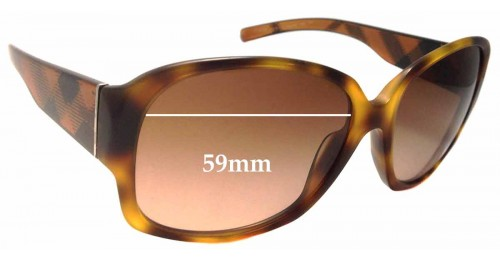 Burberry B 4128 Replacement Sunglass Lenses - 59mm Wide
