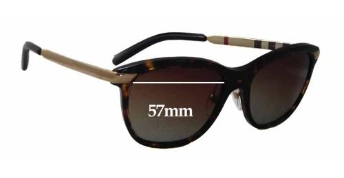 Burberry Glasses Frame Repair : Burberry B 4169-Q Replacement Sunglass Lenses - 57mm Wide