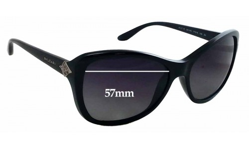 SFX Replacement Sunglass Lenses fits Bvlgari 8127B 57mm Wide