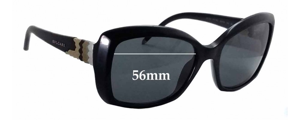 75be0a074a Bvlgari 8133 Replacement Sunglass Lenses - 56mm wide