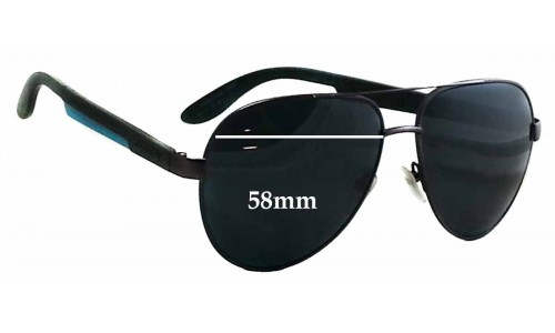 Carrera 5009 Replacement Sunglass Lenses - 58mm wide