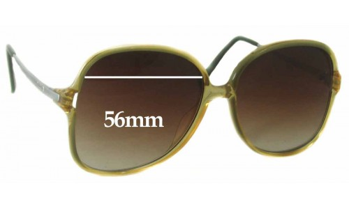 Carrera 5303 Replacement Sunglass Lenses - 56mm wide