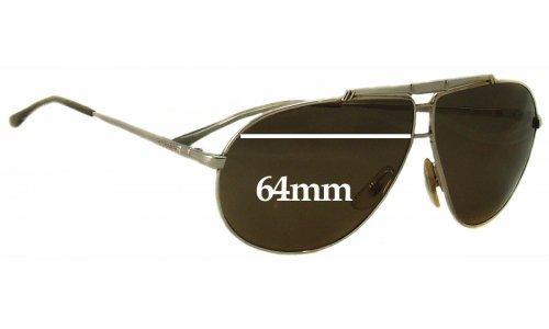 Carrera 5401 Aviator Replacement Sunglass Lenses - 64mm wide