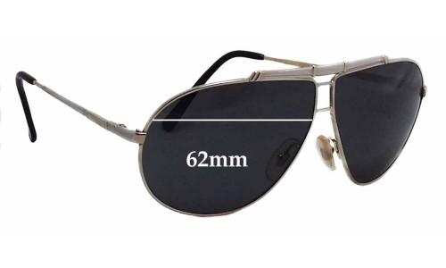 Carrera 5401 Small Aviator Replacement Sunglass Lenses - 62mm wide