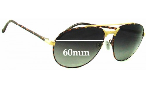 Carrera 5469 Replacement Sunglass Lenses - 60mm wide