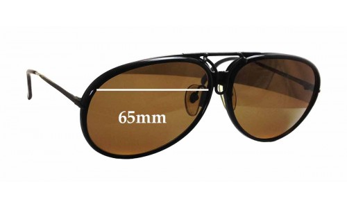 Carrera 5632 Replacement Sunglass Lenses - 65mm wide x 58mm tall
