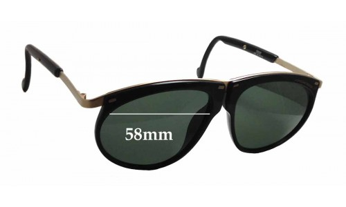 Carrera 5660 Replacement Sunglass Lenses - 58mm wide x 47.5mm tall